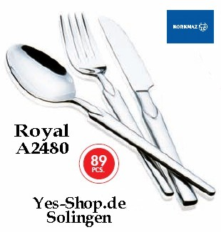 KORKMAZ ROYAL Besteck Set 89Tlg A2480
