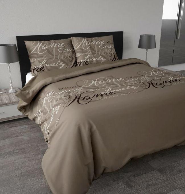 royal sweet braun beige 3tlg microfaser bettw sche garnitur 200x220 60x70cm ebay. Black Bedroom Furniture Sets. Home Design Ideas