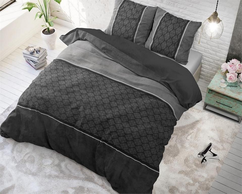 luxury barock schwarz grau 4tlg microfaser bettw sche. Black Bedroom Furniture Sets. Home Design Ideas