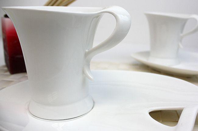 Zellerfeld Porzelan Kaffeetassen Set 12Tlg Weiss 050