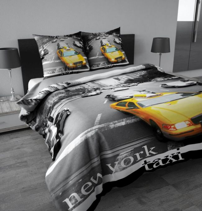 bettw sche new york taxi my blog. Black Bedroom Furniture Sets. Home Design Ideas